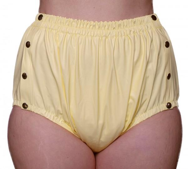 tc14220, Inkontinenz PVC-Slip, Knöpfer mit breitem Taillenbund, taillenhoch geschnit
