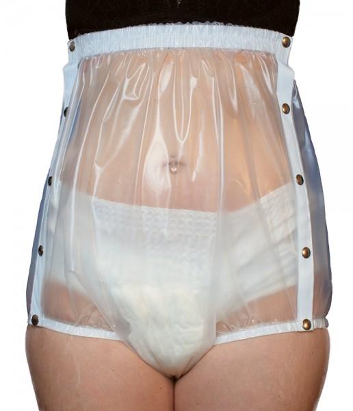 tc18330, Inkontinenz-Slip aus PU-Folie, Knöpfer, 10 cm höher als tc1832, breiter Taillenbund.