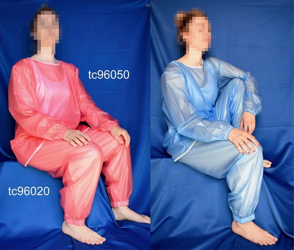 tc96120, PVC-Hausanzug (Schlafanzug, Pyjama), bestehend aus Jacke tc96050 und PVC-Hose tc96020