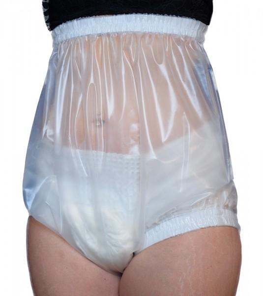 tc17331, Inkontinenz-Slip aus PU-Folie, 10 cm höher als tc17320, breiter Taillenbund und Beingummi