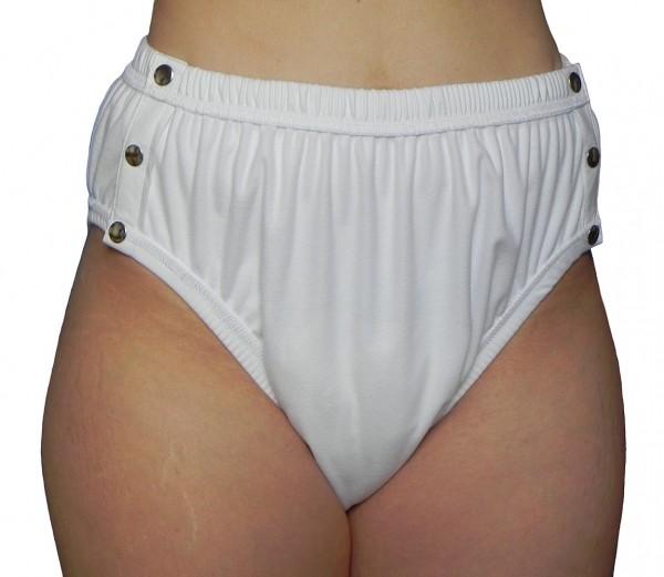 tc15230 (vorher tc1523), Premium PU-Inkontinenz-Slip aus POLYPES, Knöpfer, hoher Beinausschnitt